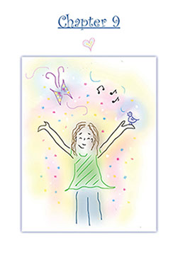 Chapter 9 of The Magic Closet with illustration of young girl.